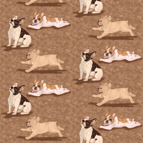 Paint me like Three French Bulldogs fabric by eclectic_house on Spoonflower - custom fabric