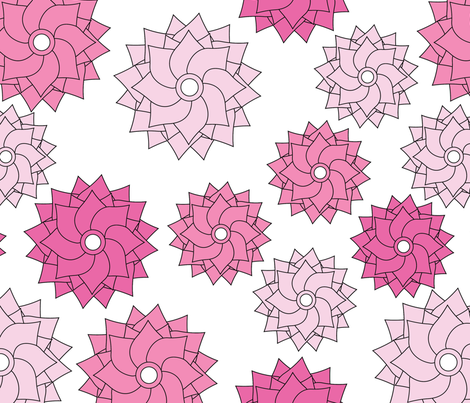 Floral Power fabric by creativity_and_couture on Spoonflower - custom fabric