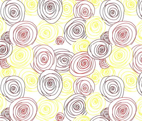 Roses fabric by mandy_b on Spoonflower - custom fabric