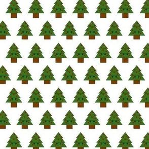 2016 Button Eyed Christmas Tree White Background
