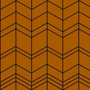 Modern arrows feathers zigzags chevron -  rusty red orange || by sunny afternoon