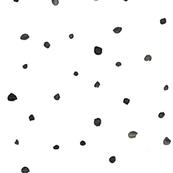 Black Handpainted Watercolour Dots + Spots