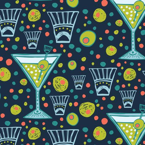 Ooh La La Martini fabric by jacquelinehurd on Spoonflower - custom fabric