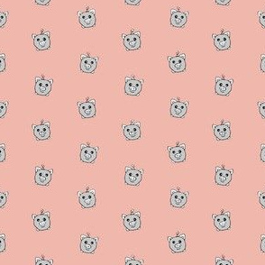 Porka Dots Pink & Grey