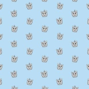 Porka Dots Light Blue & Grey