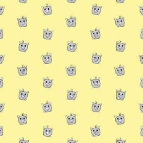 Porka Dots Yellow & Grey