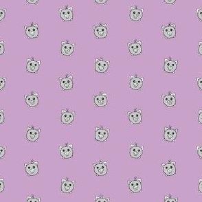 Porka Dots Lavendar & Grey