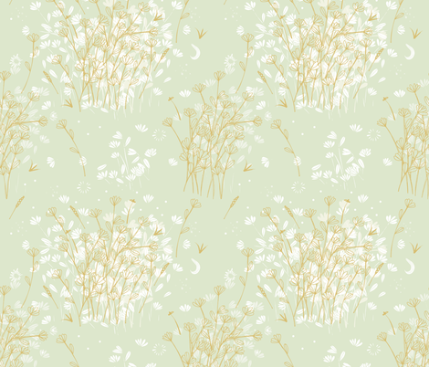 Coockie brown clover on green  fabric by camcreative on Spoonflower - custom fabric