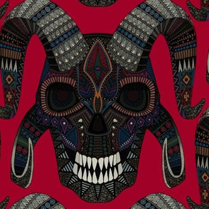 demon skull red