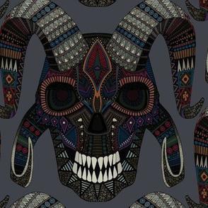 demon skull charcoal