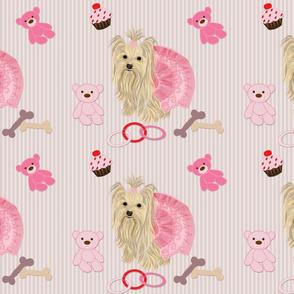 Yorkie - bears, toys & cupcakes