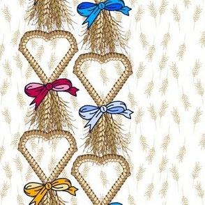 Corn dolly row