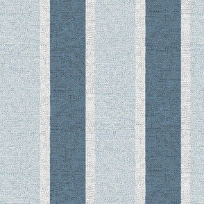 Stony Stripe - slate, denim, frosted glass