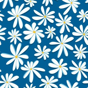 Crazy Daisies 3D on Blue