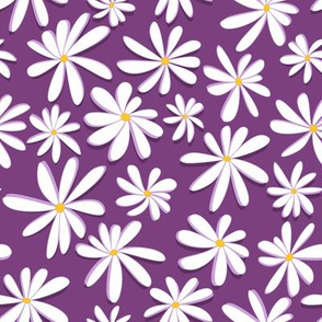 Crazy Daisies 3D on Purple