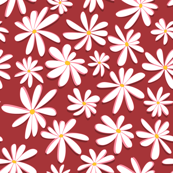 Crazy Daisies 3D on Red