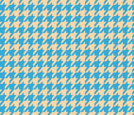 Houndstooth Sand and Sky Blue fabric by mariafaithgarcia on Spoonflower - custom fabric