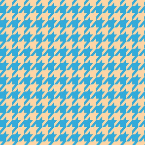 Houndstooth Sand and Sky Blue