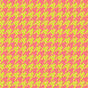 Houndstooth Peach and Lime