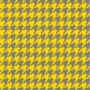 Houndstooth Yellow and Gray