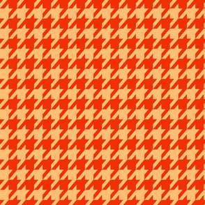 Houndstooth Red and Beige