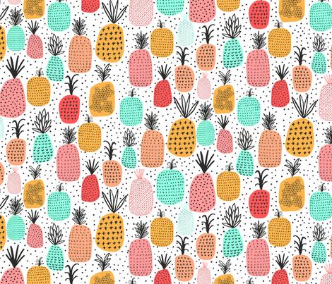 Pineapples fabric by zoe_ingram on Spoonflower - custom fabric