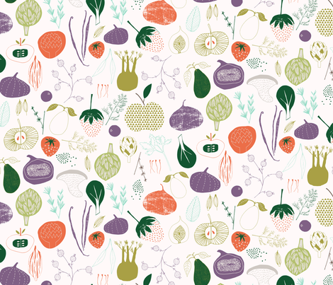 Fruit and Veg fabric by zoe_ingram on Spoonflower - custom fabric