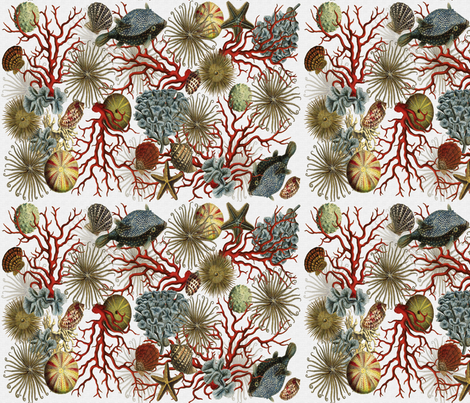 Illustrations of Underwater Life fabric by honoluludesign on Spoonflower - custom fabric