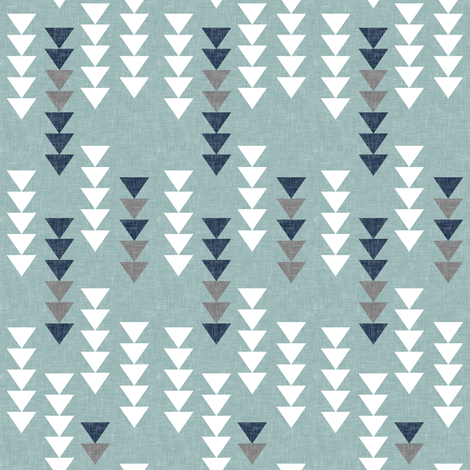 falling triangles || dusty blue fabric by littlearrowdesign on Spoonflower - custom fabric