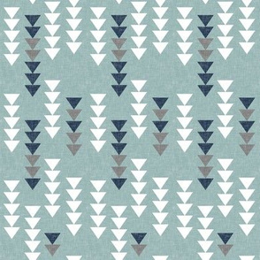 falling triangles || dusty blue