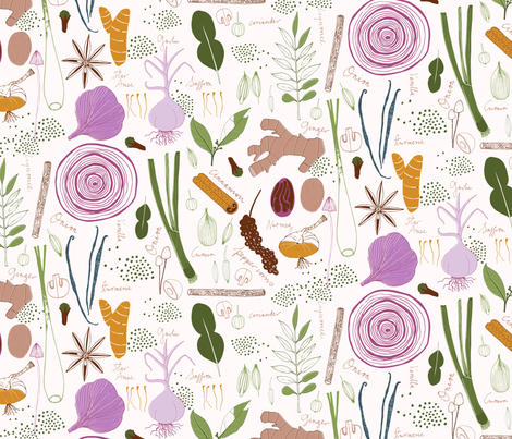 Spices fabric by zoe_ingram on Spoonflower - custom fabric