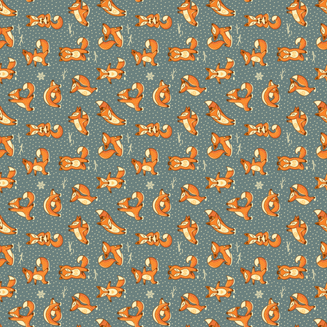 foxes yoga fabric - photo #4