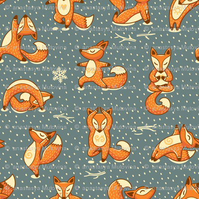 foxes yoga fabric - photo #1