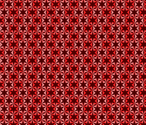 Red Star Parade fabric by floramoon on Spoonflower - custom fabric