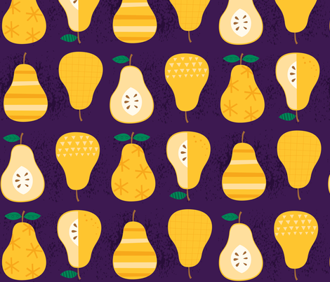 Golden Pears fabric by lisa_kubenez on Spoonflower - custom fabric