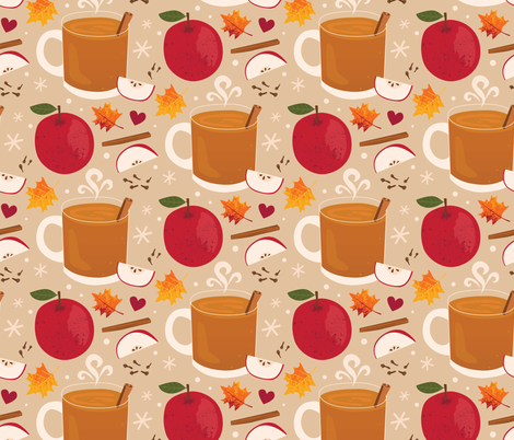 Apple Cider fabric by lisa_kubenez on Spoonflower - custom fabric