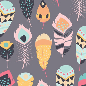 Tribal feathers 014