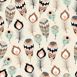Tribal feathers 033