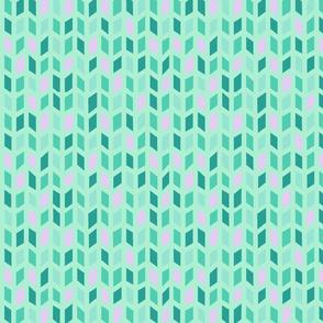 Geometric Green and Purple Design