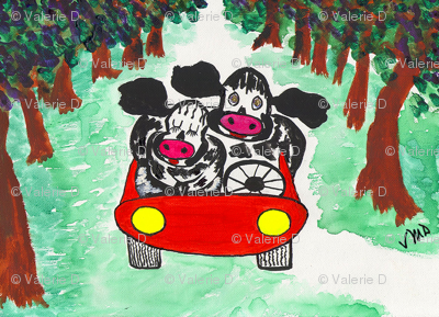 Cow Couple - Cruisin'