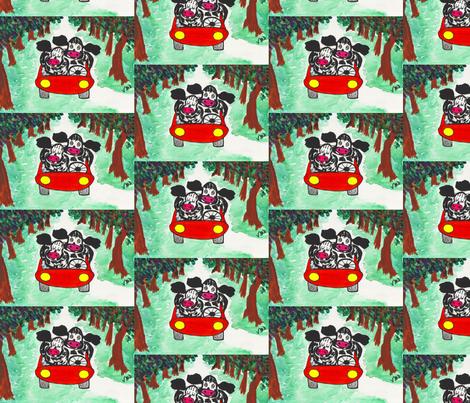 Cow Couple - Cruisin' fabric by valerie_dortona on Spoonflower - custom fabric