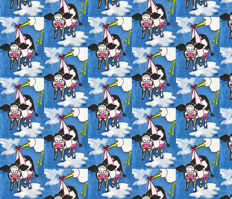 Cow Girl fabric by valerie_d'ortona on Spoonflower - custom fabric