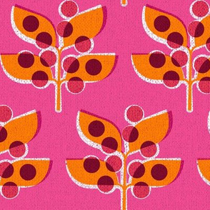 Autumn Berries (on pink)