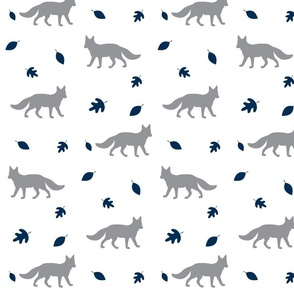 Autumn Fox// grey and navy