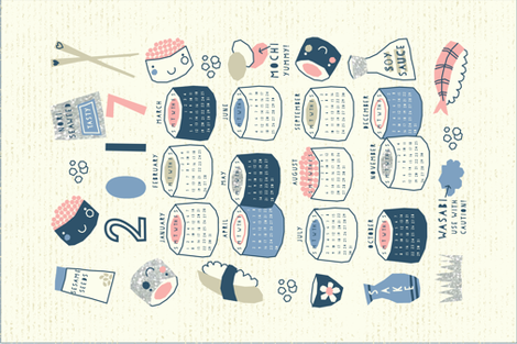 Sushi Deluxe fabric by amel24 on Spoonflower - custom fabric