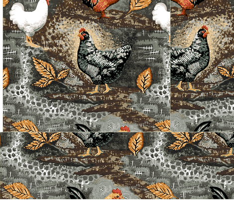 Triple_Squares_Free_Range_Jamie_Kalvestran fabric by scrap-bags on Spoonflower - custom fabric