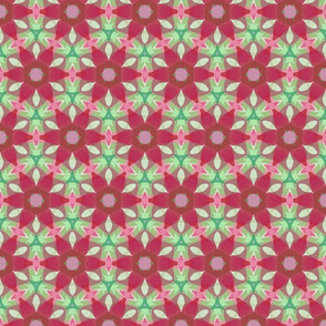 Peppermint and Cranberry Flower Field