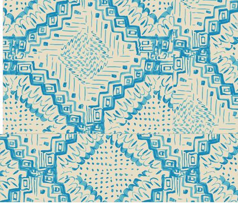 Triple_Squares_Boho_Jamie_Kalvestran fabric by scrap-bags on Spoonflower - custom fabric