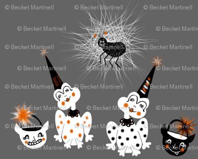 Halloween Gossip trick or treat frog friends