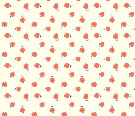 FINDING FLORAL CORAL fabric by hlively on Spoonflower - custom fabric